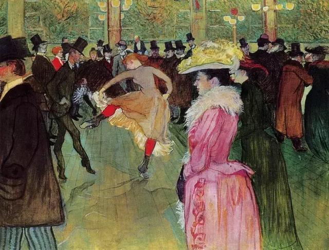 法國貴族家庭出身的后印象派畫家亨利·德·圖盧茲·羅特列克作品