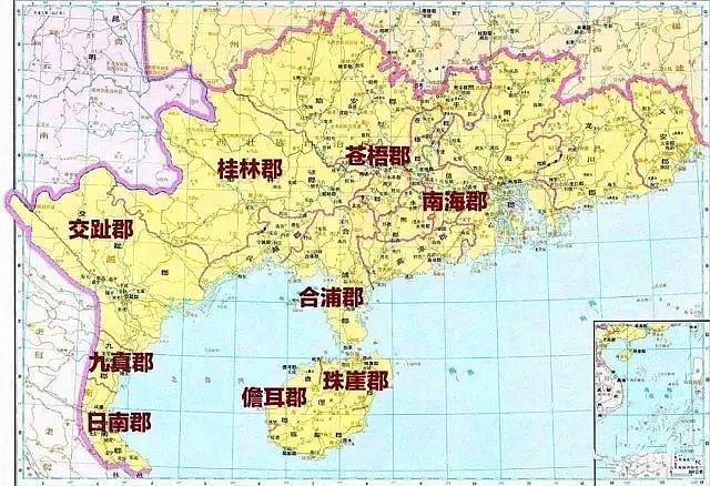 西漢對交趾、九真和日南三郡的統治與管理
